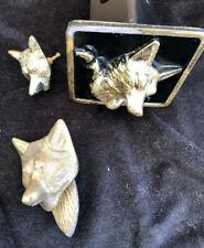 Brass Fox Door Knocker Knob Embellishment Hunt Equestrian Hunt Country Decor Art