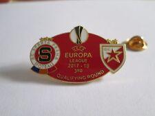 a1 SPARTA PRAHA - RED STAR BEOGRAD uefa europa league 2018 spilla football pins