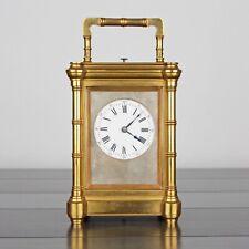 Antico c.1892 Henri JACOT Bamboo grande SUONERIA sorprendente orologio francese di trasporto