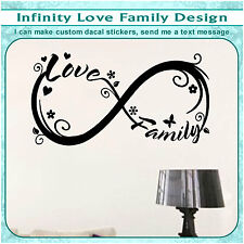 Family Love Heart Infinity Forever Symbol Vinyl Art Decor Sticker Decal S127
