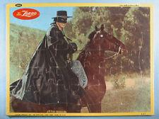 1950s Zorro 2 Frame Tray Photo Puzzles Guy Williams Walt Disney Jaymar WDP