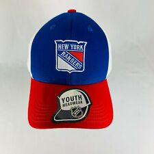 New Official NHL Youth New York Rangers Hockey Hat Cap - 100% Cotton