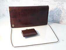 brown snake skin Pierre cardin Cluch / Shoulder Bag plus purse