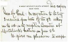 OSCAR STRAUS 1919 AUTOGRAPH LETTER - Teddy Roosevelt's Sec. of Commerce & Labor