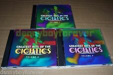 Greatest Hits of the Eighties 80s Volume 1 2 3 CD Lot Set NM Sony Music Special