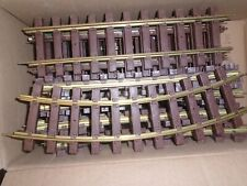 LIONEL G SCALE BRASS TRACK 9 CURVE PIECES & 7 Straight