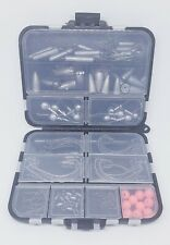 Swivels & Snaps Fishing Terminal Tackle, Box With Hooks, Weights, Jig Heads, And