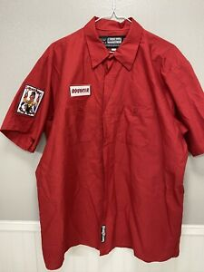 Throttle Threads Kustom Shopwear Lucky's Chop Chop embroidered mechanic shirt XL