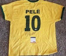 Legendary Soccer Star PELE Signed Team Brazil Soccer Jersey (PSA COA)