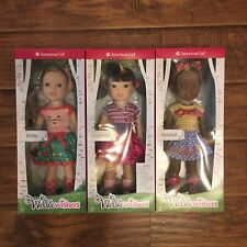 American Girl Wellie Wishers Doll Lot 14.5 Emerson Willa Kendall NEW IN BOXES!