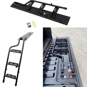 For Full Size PIckup Truck F150 F250 Sierra RAM TUNDRA HD Tailgate Ladder Step