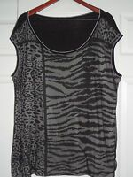 Vanilla Sugar Knit Top Blouse - Animal Print w/ Net Layer on front - Size 3X