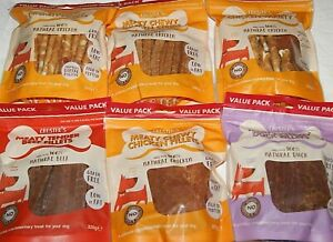 Natural Meat Dog Treats 80-330g Chicken Duck Beef Strips Fillets Variety Etc