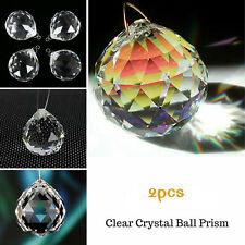 2PCS Clear Crystal Feng Shui Lamp Ball Prism Rainbow Sun Wedding Decor 20mm hot