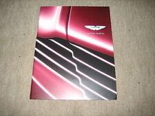 Aston Martin DBS, DB9, V8 Vantage One-77 Press Kit Prospekt Brochure, 20 Seiten