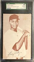 LARRY DOBY 1947-66 Exhibits #61 Script Signature Indians SGC 55 VG/EX+ 4.5