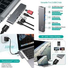 CHOETECH USB C Hub, 7 in 2 Dual Type C MacBook Hub Adapter with Thunderbolt...