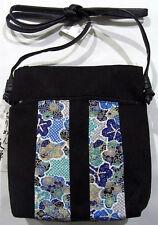 JAPANESE TRADITIONAL KIMONO Fabric Handbag Tote Shoulder Bag Blue Cherry Blossom