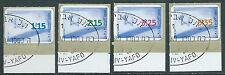 1998 ISRAELE USATO BANDIERA CON APPENDICE - T15-9