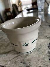 Longaberger Pottery Heritage Green Votive Toothpick Holder New Usa