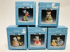"""Kitty Cucumber Rare! Lot Of 5 Figurines """"Deck The Halls� Series, Schmid 1992"""