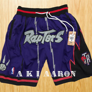 Vintage Toronto Raptors Purple Shorts Pocket Sewn