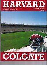 1994 Harvard vs Colgate Football Program  - Ex Mint