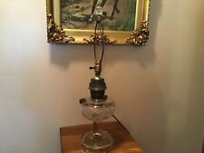 Antique Aladdin Washington Drape Electrified Oil Lamp Crow Foot Base