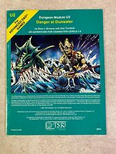 DANGER AT DUNWATER 1980 Dungeon Module U2 Advanced Dungeons & Dragons 9064