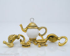 50Sets Gold Tone Teapot Bead Cap Set Findings 21x9mm