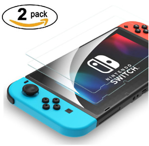 2 Pack Nintendo Switch Console Real Tempered Glass Full Screen Protector Cover
