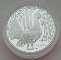 Belarus 2018 Reserve Kotra Сapercaillie 20 Rubles Silver Coin