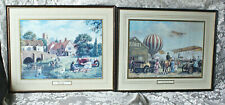 2 Framed & Matted Kevin Walsh Nostalgia Prints Thirties Sunday Air Display 1910