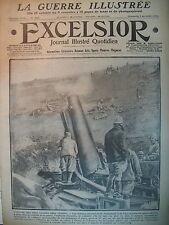 WW1 N° 2182 VERDUN ARTILLERIE CANON DOUAUMONT TOURELLE US JOURNAL EXCELSIOR 1916
