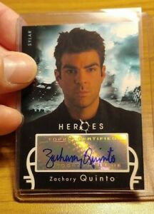 2007 Topps Heroes Season 1 TV show Zachary Quinto Autograph card(FULL signature)