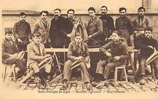 DIJON, FRANCE, VOCATIONAL SCHOOL, BOYS WORKING WITH LEATHER, c. 1904-14