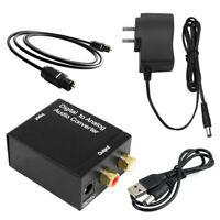 Optical  Toslink Digital to Analog Audio Converter Adapter RCA L/R