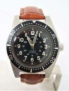 Mens S/Steel JULES RACINE - GALET Automatic Military Divers Watch EXLNT SERVICED