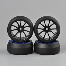 4Pcs 0° Drift Racing Tires Wheel Rims For HSP HPI 1:10 RC On-Road Car C12B+D2