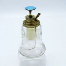 Antique Hawkes Perfume Scent Bottle Atomizer, Enamel Top, NR