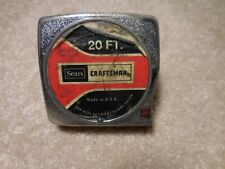 Rare Vintage Sears Craftsman 39217 PR 20 FT Tape Measure - Red Button Model