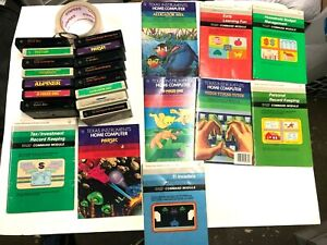 15 Texas Instruments TI/99 Cartridges & Games (Some Manuals) - Untested