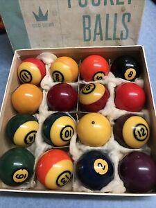 Brunswick Centennial Pool Ball Set Billiards Balls Complete Set