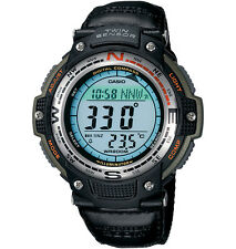 Casio SGW100B-3V Men's Cloth Band Twin Sensor Compass Thermometer Watch