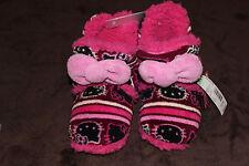 NWT $24 Girls sz 11-12 HELLO KITTY Sanrio Pink Sherpa Booties Boot Slippers