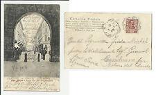 1904 MONZA CORSO VITTORIO EMANUELE DALL' ARENGARIO CON PERSONE STUPENDA RARA
