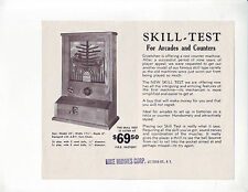 SKILL TEST By GROETCHEN OLD COUNTERTOP TRADE STIMULATOR GAME FLYER BROCHURE