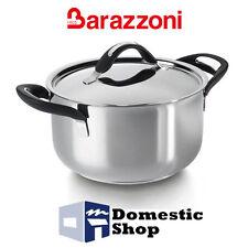 BARAZZONI CASSERUOLA 24 CM SILICON PRO ACCIAIO CON COPERCHIO ACCIAO INOIX