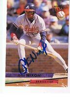 1993 FLEER ULTRA # 310 OTIS NIXON AUTOGRAPHED  CARD , BRAVES