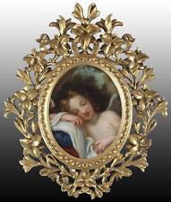 Después de pintura al óleo antigua baldessare Franceschini durmiendo Cupido